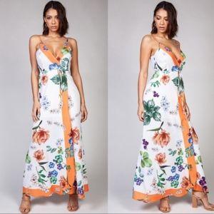 KEELY Floral Print Maxi dress